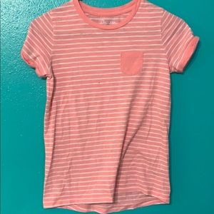 Pink striped Cherokee t-shirt